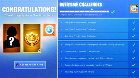 fortnite  battle pass overtime challenge justreviewus