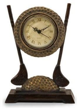 Golf Desk Clock by Golf Club Desk Clock Traditional Desk And Mantel