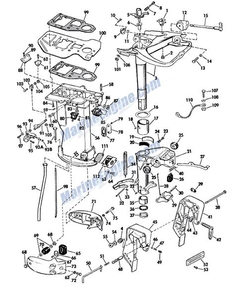 evinrude outboard parts diagram evinrude lower unit parts for 1965 33hp 33552