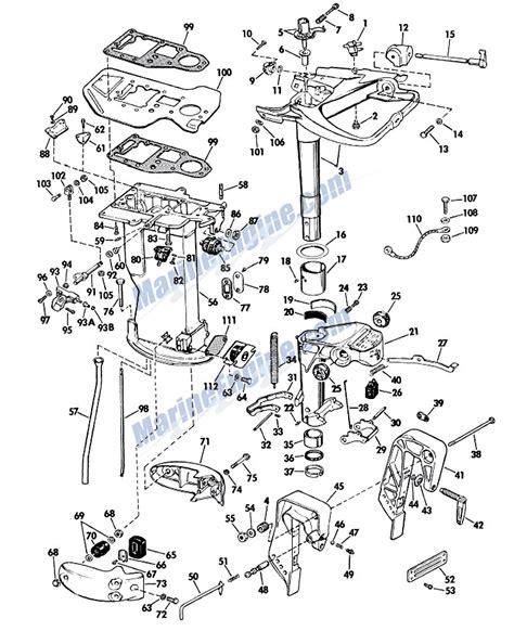 evinrude lower unit diagram evinrude lower unit parts for 1965 33hp 33552