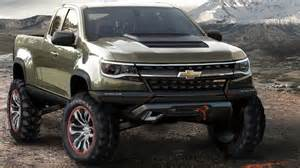chevrolet colorado gets zr2 concept with turbodiesel power