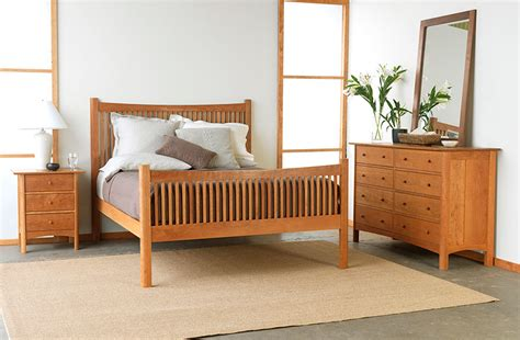 modern shaker bedroom set american made solid wood furniture