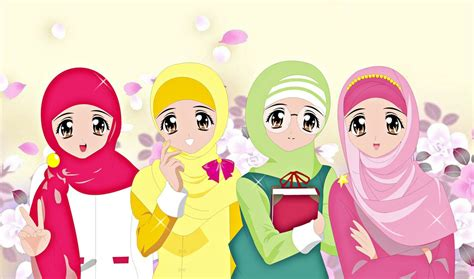 wallpaper kartun hd background hijab kartun auto design tech