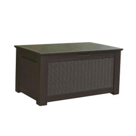 outdoor storage bench home depot rubbermaid 93 gal bridgeport resin storage bench deck box