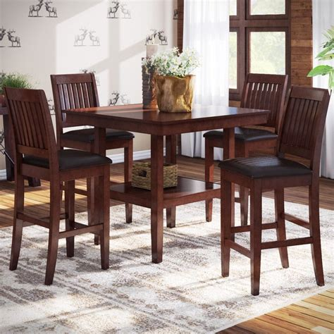 High Dining Room Table Distressed Finish Kitchen Dining | high dining room table distressed finish kitchen dining