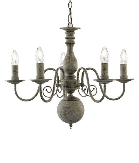 textured grey flemish chandelier vintage styling