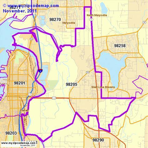 Zip Code Map Everett Wa | zip code map of 98205 demographic profile residential