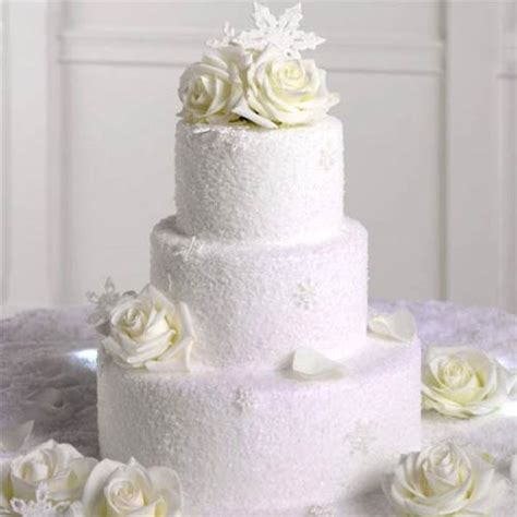 Winter Wedding Cakes by Watering Winter Wedding Cakes