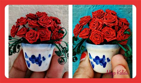 paper flower pot tutorial how to make diy paper quilling beautiful miniature flower