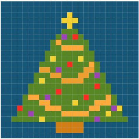 small christmas tree chart for cross stitch knitting
