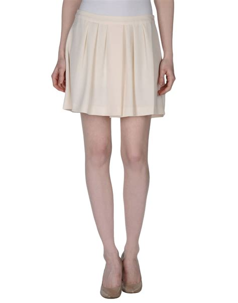guess mini skirt in white lyst
