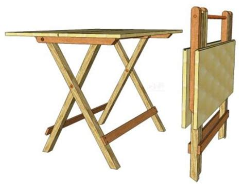 folding tv table 104 3d woodworking plans