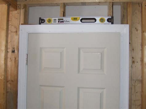 Install Door Frame by How To Install Split Jamb Pre Hung Doors