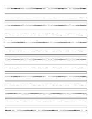 Lined Paper For Writing Practice Lined Writing Paper For Kids Spelling Tests Handwriting