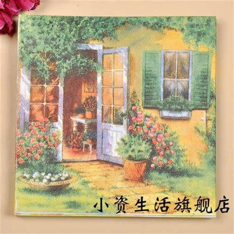 Napkins Tissue Decoupage Eropah 9 napkins paper tissue printed flower decoupage wedding hotel festive decorative vintage