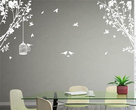 large tree wall stickers uk large side wall tree vinyl wall sticker diy wall decal