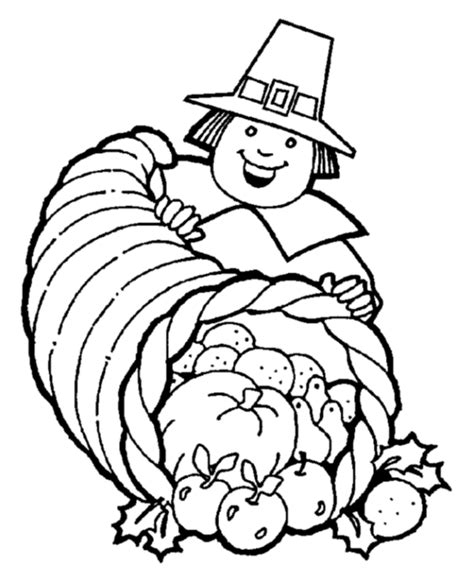 Free Pilgrim Coloring Pages free coloring pages thanksgiving cornucopia coloring pages