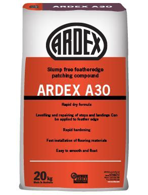 ARDEX A 30   Slump free feather edge patching compound