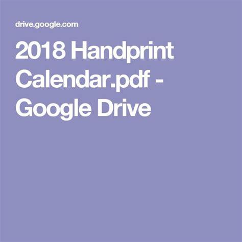 Google Drive Calendar Template 2018