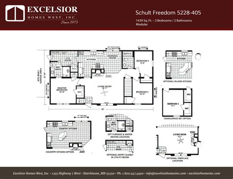 schult floor plans schult freedom 5228 405 excelsior homes west inc