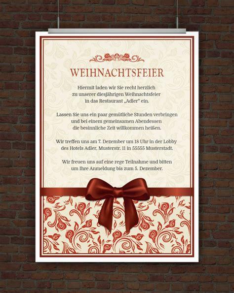 Word Vorlage Einladung Weihnachtsfeier einladungskarten weihnachtsfeier cloudhash info