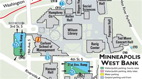 Carlson Mba Course Schedule by Carlson Parking Map Jpg