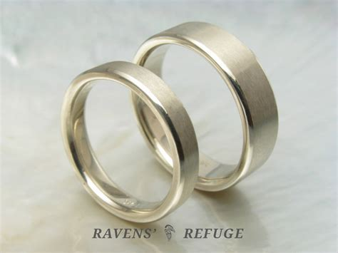 Handmade White Gold Rings - handmade white gold wedding bands simple wedding rings