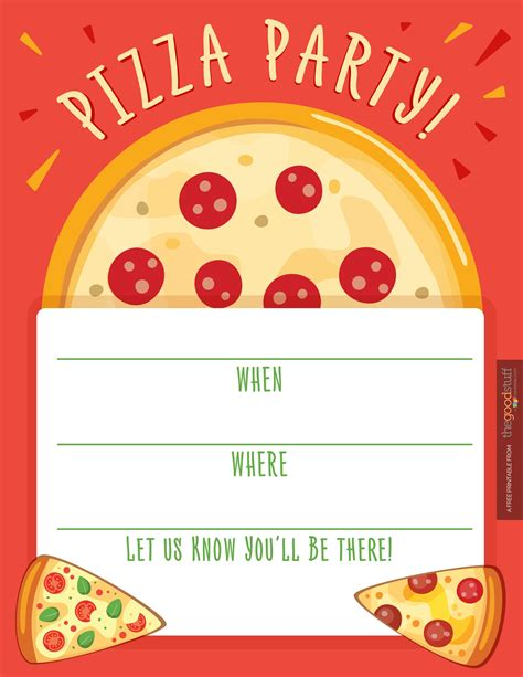 Pizza Invitation Template Hostess Helpers Free Pizza Party Printables Thegoodstuff