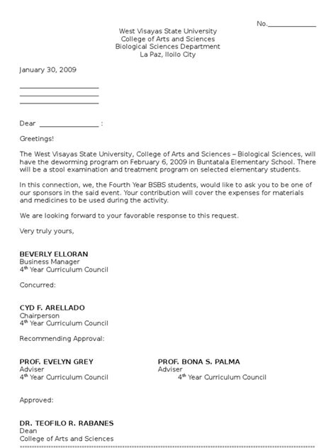 sle solicitation letter for financial support sle of solicitation letter for financial support
