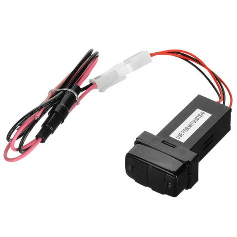 Car Charger Dual Slot 2 1a 2 1a dual usb car power charger for mitsubishi black multi color