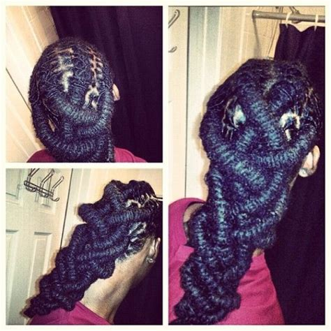 how to make a bu with nappy annie braid locs barrels and braids on pinterest