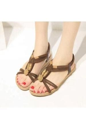 Summer Flip Flops Brown Intl summer style white dress brown