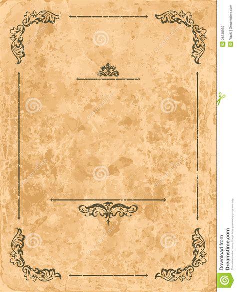 How To Make Vintage Paper - vintage frame on paper sheet stock vector