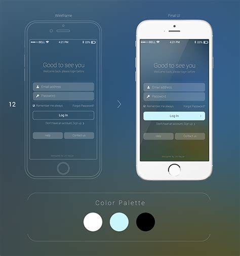 ui layout options mobile login ui design options on pantone canvas gallery