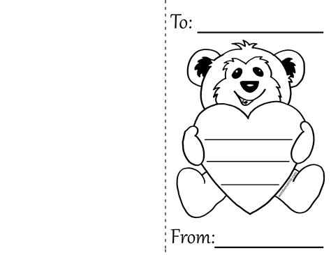 blank valentines card template best photos of black and white day card template