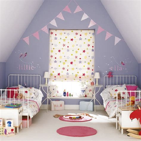 Toddler Room by Toddler Room Ideas Purple Wall White Steel Bed Frame Pink