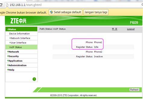 Modem Fiber Optik Zte Zxhn F609 erna s status jaringan dan layanan indihome pada ont zte f609