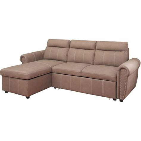 pull out sectional farrel 2 piece sectional with pull out bed 1a far 2pc