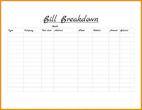monthly bill planner template or monthly bills excel template
