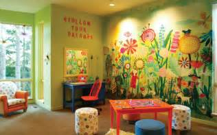 childrens playroom ideas house plans and more beautiful wall mural for kids play room