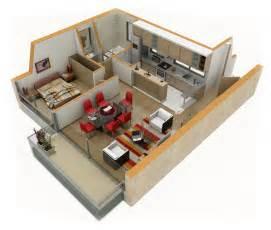 New 3d House Blueprints And Plans With Suite Living Room Floor Plan 3d Suite