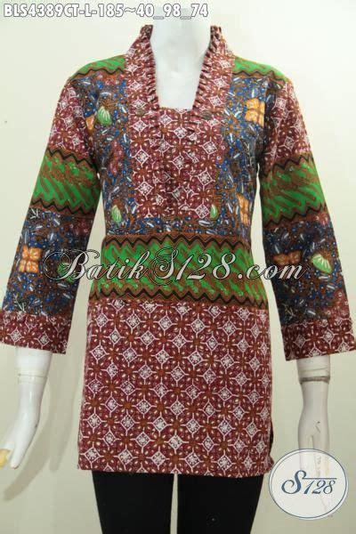 desain baju batik wanita masa kini baju batik keren dengan desain motif mewah dan berkelas