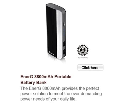 Luxa2 Energ 10400mah Portable Power Bank