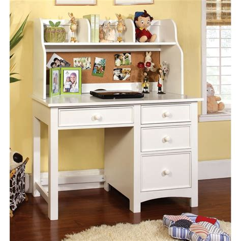 Children S Desk With Hutch Furniture Of America Ruthie Modern Desk With Hutch In White Idf 7905wh Dk Hc Kit