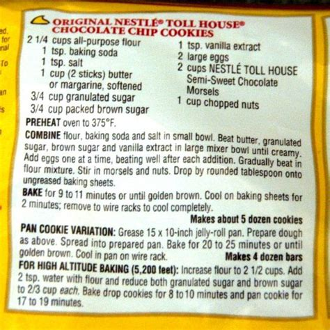 toll house cookies recipe toll house chocolate chip cookie recipe sweet pinterest