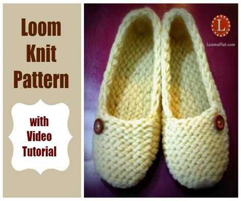 loom knit slippers loom knitting patterns slippers with tutorial by