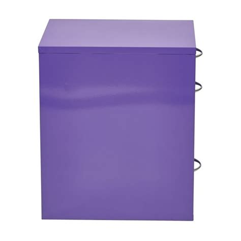 Purple Filing Cabinet 3 Drawer Filing Cabinet In Purple Hpbf512