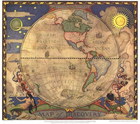 map of discovery western hemisphere maps