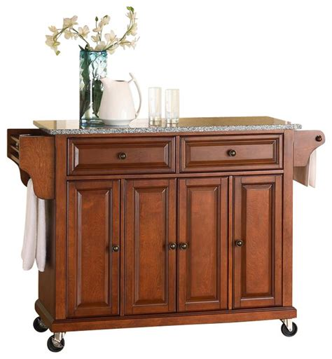 Kitchen Island Cart With Granite Top Solid Granite Top Kitchen Cart Island In Clas