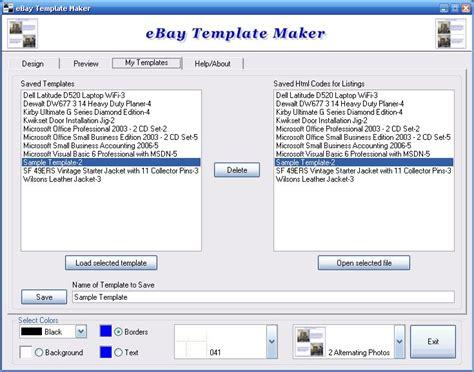 ebay listing template creator ebay template maker